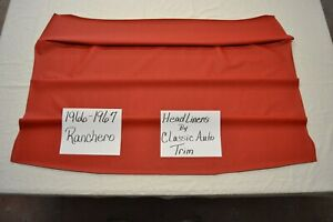 1966 66 1967 67 Ford Ranchero Bright Red Headliner Usa Made Top Quality