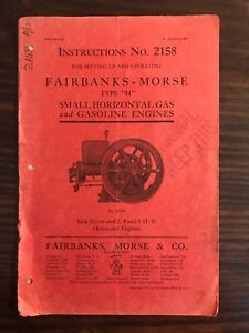 Original 1911 Fairbanks Morse Hit Miss Engine Type H Catalog 2158 5th Edition