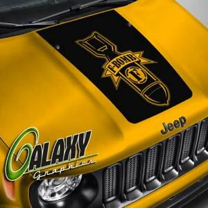 Hood Decal For Jeep Renegade F bomb Blackout Hood Sticker
