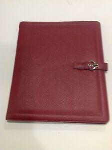 Monarch Note Pad Dark Rose Leather Franklin Covey Planner 8 5x11 Binder 3372 117