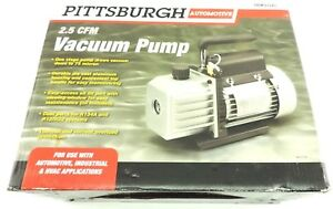 Pittsburgh 2 5 Cfm Vacuum Pump Automotive Air Conditioning Hvac One Stage Nib