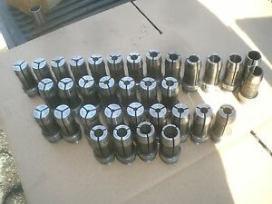 34 Hardinge 5m Collets 1 8 To 7 8 Also 32nds And 64ths