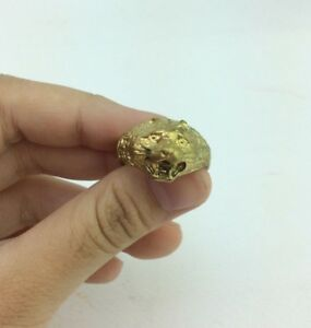 Best Thai Amulet Golden Tiger Ring Size 8 Prosperity Rich Lucky Charm Happiness