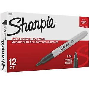 Sharpie Fine Black Permanent Marker Pen 24 Packs Of 12 288 Pens