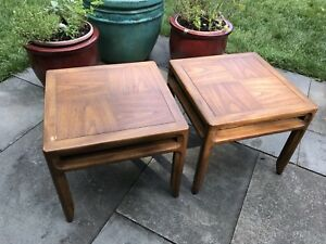 Cheap Mid Century Danish Modern End Tables Or Nightstands Pair