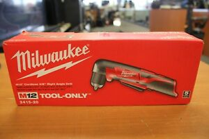 Milwaukee 2415 20 M12 Cordless 3 8 Right Angle Drill New In Box