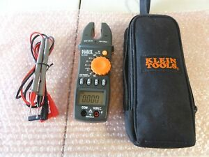 Klein Tools Cl 3000 Fork Ac Meter Digital Amperage test Lead W case Used Once