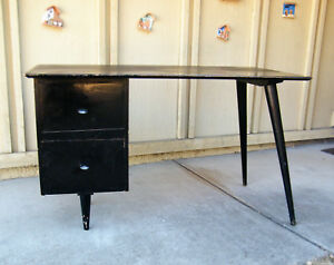 Paul Mccobb Ebonized Planner Group Desk
