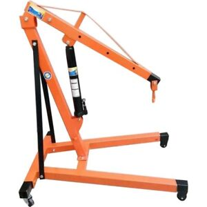 Moving 2 Ton Tonne Professional Folding Engine Crane Hoist Lift With Wheels Hook