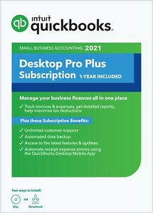 Quickbooks Desktop Pro 2019 1 User pc Download Cd