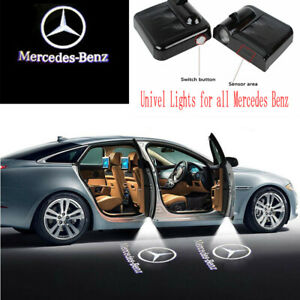 2pcs Wireless Led Door Courtesy Light Shadow Projector For Mercedes Benz Logo