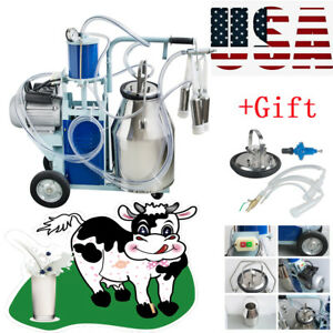 New Electric Milking Machine For Goats Cows Bucket Automatic 25l Farmer Us gift