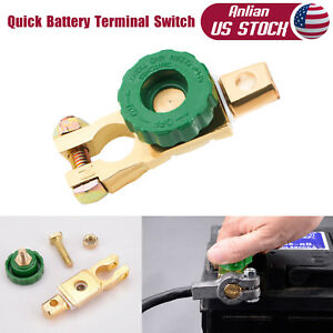 2pcs Car Battery Master Terminal Link Quick Cut Off Disconnect Kill Shut Switch