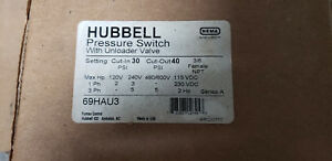 69hau3 Hubbell Furnas Air Compressor Pressure Switch 30 40 Psi With Unloader