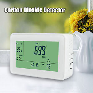 Yeh 40 Lcd Carbon Dioxide Detector Co2 Monitor Indoor Temperature Humidity Meter