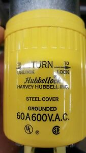 Hubbell Hbl26419 Hubbellock Plug 3 Pole 4 Wire 60 Amp 600v