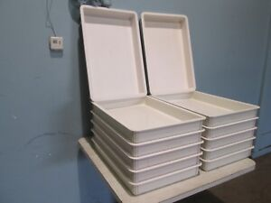 normandie Lot Of 12 Hd Commercial Fiber Glass Bakery dough Proofing Pans