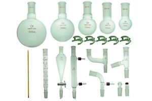 Proglass Glass Organic Chemistry Kit 24 40 Lab Glassware Set