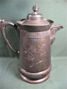 Antique Middletown Insulated Silverplate Water Pitcher