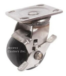 4pssdsb 4 Stainless Steel Swivel Caster Heavy Duty Plastic Wheel With Brake