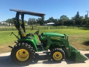 2015 John Deere 3038e Tractor Low Hours W Bush Hog Grading Blade Attachment