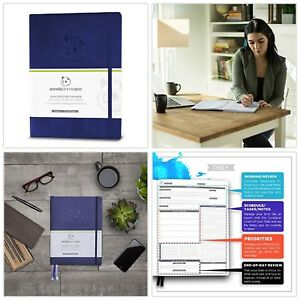 Organized Daily Planner Productivity Busy Journal Memory Book Agenda Review