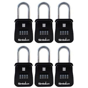 6 Pack Quality Realtor Combo Lockbox By Simbalux 4 Digit Numeric Combination