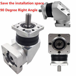 Ratio 10 1 Right Angle Planetary Gear Speed Reducer 16mm Input For Nema34 Motor
