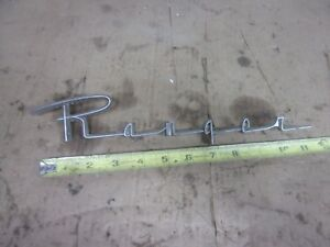 1957 Edsel Ranger Emblem Ornament 1958 1959 1960 Trim Ford