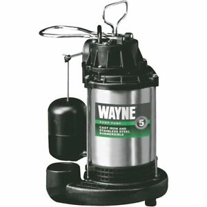 Wayne Cdu980e 3 4 Hp Stainless Steel Cast Iron Submersible Sump Pump W Ver