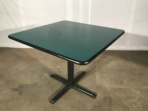 Square Table With Iron Base