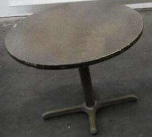 Restaurant Equipment 36 Table Top With Base Brown Formica 30 Tall