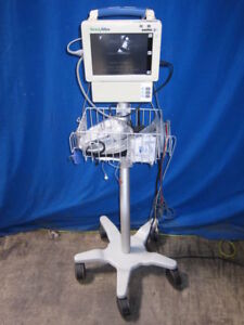 Welch Allyn Propaq Cs 244 Spo2 Bpm Patient Monitor With Stand Leads And Cables