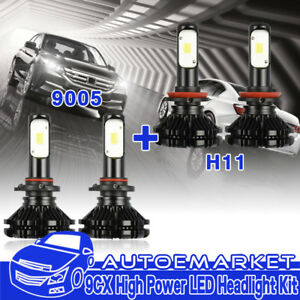 Led Headlight Kit Light H11 9005 Hb3 Bulb For Toyota Camry Hybrid 2012 2009 Usa