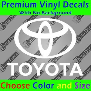 Toyota Decal Vinyl Toyota Sticker Toyota Emblem With Text Tundra Tacoma Sr5