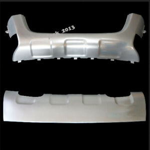 Chrome Front Rear Bumper Protector Guard Skid Plate For Volkswagen Polo 08 09
