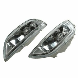 For 2001 2002 Toyota Corolla Clear Glass Fog Driving Lights Bumper Lamp h3 Bulbs