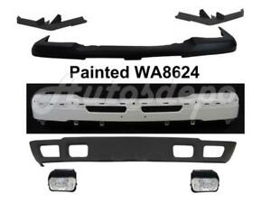 Front Bumper Wa8624 Face Bar Filler Cap Fog Valance For Silverado 1500 2003 04