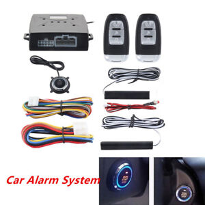 Pke Alarm System Passive Keyless Entry Push Button Remote Engine Start Stop Sale
