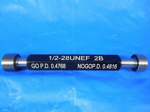 New 1 2 28 Unef 2b Thread Plug Gage 5 Go No Go P d s 4768 4816 Tooling