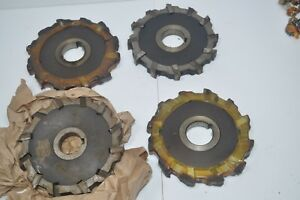 Mccrosky Lot Of 4 Indexable Milling Cutter Face Mill 12 slot 6 X 3 4 X 1 1 2
