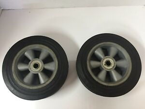 Martin Wheel Replacements Pair 8 X 1 7 8 Heavy Duty Plastic Cart Caster Indust