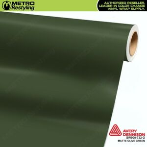 Avery Supreme Matte Olive Green Vinyl Vehicle Car Wrap Film Sheet Sw900 732 O