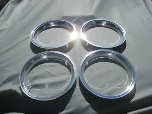 Ford 1965 1966 1967 1968 Ford Mustang Gt Rallye 14 Chrome Trim Rings Set 4