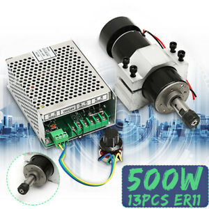 Er11 500w Cnc Air Cooled Engraver Spindle Motor Speed Governor Controller clamp