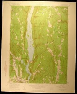 New Hartford Connecticut Barkhamsted 1956 Vintage Usgs Original Topo Chart Map