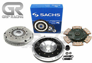 Sachs stage 3 Hd Clutch Kit aluminum Flywheel Fits 92 98 Bmw 325 328 M50 M52 E36
