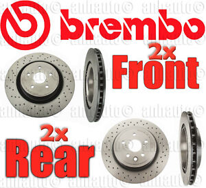 Brembo Brake Rotors front Rear For Lexus Isf 2008 2014