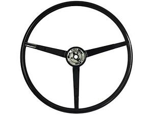 1965 1966 Ford Mustang Standard Steering Wheel Black Polyurethane 65 17501 New