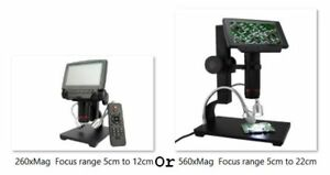 5 Screen 1080p Digital Microscope Hdmi av Cb Repair Soldering Tool 260x Or 560x